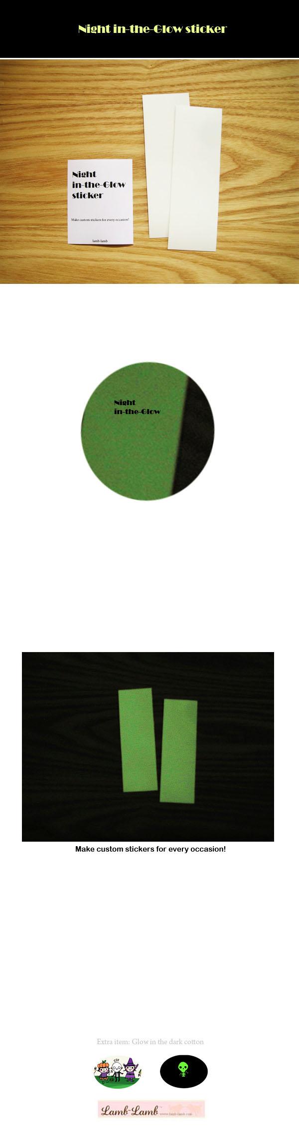 Night in the glow sticker - 램램, 3,000원, 스티커, 리폼/DIY스티커