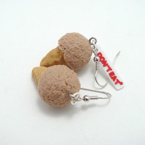 미니아이스크림 귀걸이-쵸코 - 돈트잇, 4,500원, 주얼리 DIY, 귀걸이