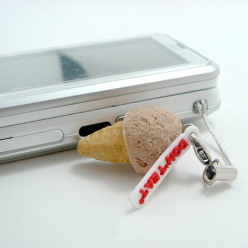 미니아이스크림 핸드폰줄-쵸코 - 돈트잇, 2,500원, 스트랩, 주문제작 스트랩
