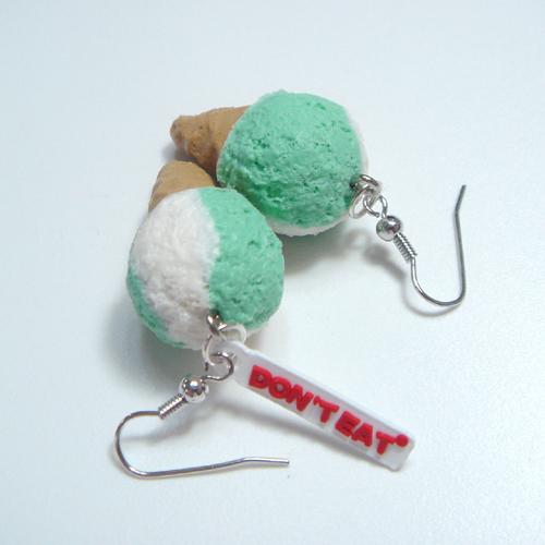 미니아이스크림 귀걸이-민트바닐라 - 돈트잇, 4,500원, 진주/원석, 드롭귀걸이