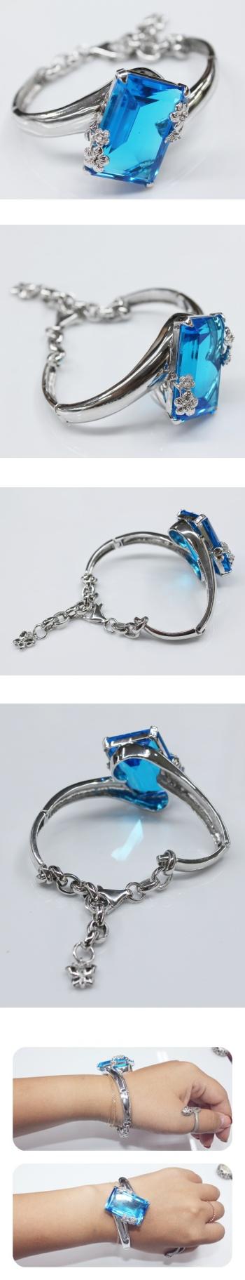 원석 아쿠아마린 팔찌 - 오이수공예, 510,000원, 팔찌, 패션팔찌