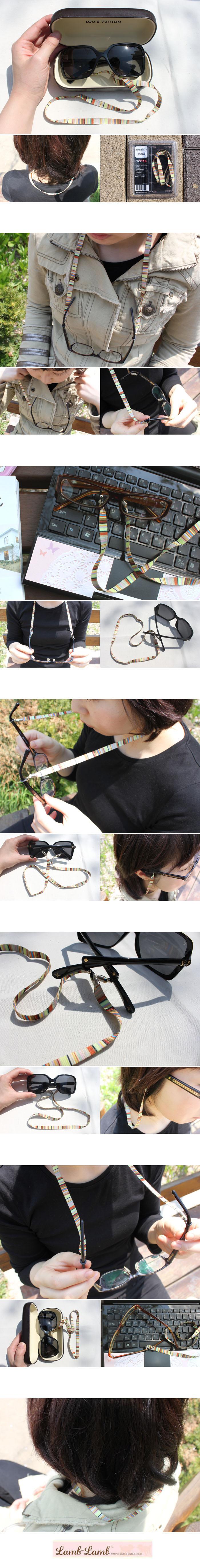 eyeglass strap -stripe - 램램, 3,000원, 안경/선글라스, 안경