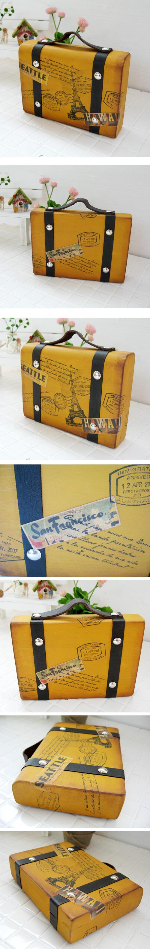 컨츄리 목각 가방 장식모형 - 안나하우스, 36,000원, 장식소품, 엔틱오브제