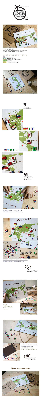 마이디자인 트래블 타일보드 - 오케이아하, 37,000원, 보드/칠판/메모판, 마그넷메모판