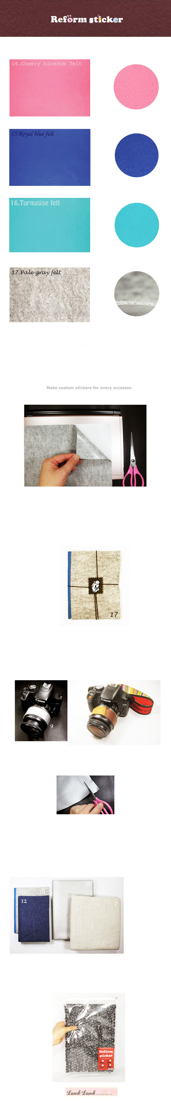 Reform sticker -C - 램램, 6,500원, 스티커, 리폼/DIY스티커