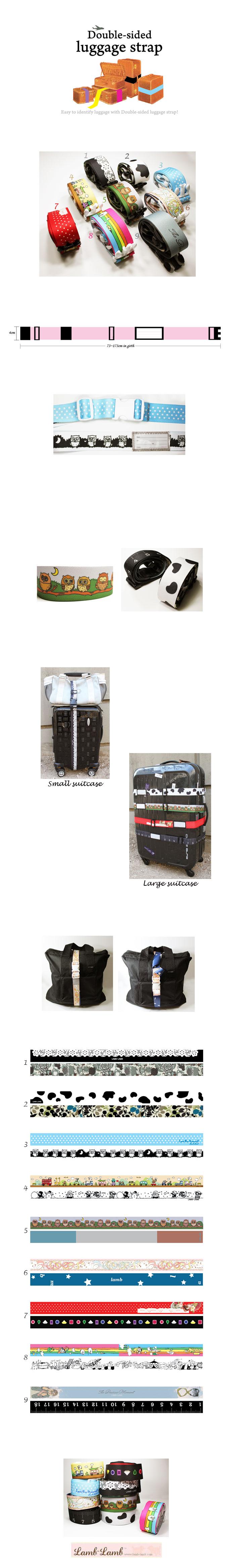 Double-sided 여행용 strap - 램램, 23,000원, 트래블팩단품, 멀티파우치